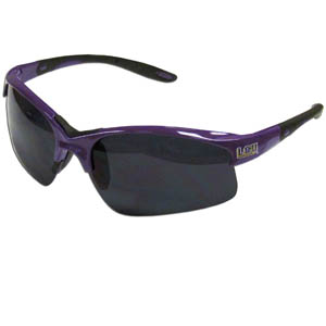 LSU Tigers Blade Sunglasses - LSU Tigers blade sunglasses have the sports logo screen printed on both sides of the frames. Look stylish wearing our sports memorabilia LSU Tigers Blade glasses with arms that feature rubber colored accents and UV400 protection. Thank you for shopping with CrazedOutSports.com