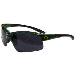 Oregon Blade Sunglasses - Our blade sunglasses have the sports logo screen printed on both sides of the frames. Look stylish wearing our sports memorabilia glasses with arms that feature rubber colored accents and UV400 protection. Thank you for shopping with CrazedOutSports.com