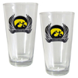 Iowa Hawkeyes Pint Glass Set