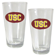 USC Trojans Rocks Glass Set - Make your game day party complete with our officially licensed collegiate pint glasses. This set of 2 USC Trojans 16 ounce glasses is a great way to show off your team pride with 2 inch metal school emblems that have enameled team colors! Thank you for shopping with CrazedOutSports.com