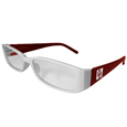 Oklahoma Sooners Reading Glasses +1.75 - Our Oklahoma Sooners reading glasses are 5.25 inches wide and feature the team logo on each arm. Magnification Power 1.75