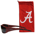 Alabama Crimson Tide Sunglass and Bag Set - Get our most popular Alabama Crimson Tide sunglasses with a matching microfiber bag carrying case. The wrap sunglasses are durable and fashionable with the maximum UVA/UBVB protection. The stylish bag is made of microfiber so it can also be used as a cleaning cloth. Thank you for shopping with CrazedOutSports.com