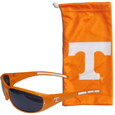 Tennessee Volunteers Sunglass and Bag Set - Get our most popular Tennessee Volunteers sunglasses with a matching microfiber bag carrying case. The wrap sunglasses are durable and fashionable with the maximum UVA/UBVB protection. The stylish bag is made of microfiber so it can also be used as a cleaning cloth. Thank you for shopping with CrazedOutSports.com