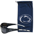 Penn St. Nittany Lions Sunglass and Bag Set - Get our most popular Penn St. Nittany Lions sunglasses with a matching microfiber bag carrying case. The wrap sunglasses are durable and fashionable with the maximum UVA/UBVB protection. The stylish bag is made of microfiber so it can also be used as a cleaning cloth. Thank you for shopping with CrazedOutSports.com