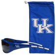 Kentucky Wildcats Sunglass and Bag Set - Get our most popular Kentucky Wildcats sunglasses with a matching microfiber bag carrying case. The wrap sunglasses are durable and fashionable with the maximum UVA/UBVB protection. The stylish bag is made of microfiber so it can also be used as a cleaning cloth. Thank you for shopping with CrazedOutSports.com