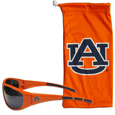 Auburn Tigers Sunglass and Bag Set - Get our most popular Auburn Tigers sunglasses with a matching microfiber bag carrying case. The wrap sunglasses are durable and fashionable with the maximum UVA/UBVB protection. The stylish bag is made of microfiber so it can also be used as a cleaning cloth. Thank you for shopping with CrazedOutSports.com