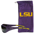 LSU Tigers Sunglass and Bag Set - Get our most popular LSU Tigers sunglasses with a matching microfiber bag carrying case. LSU Tigers Sunglass and Bag Set has wrap sunglasses that are durable and fashionable with the maximum UVA/UBVB protection. LSU Tigers Sunglass and Bag Set has a stylish bag made of microfiber so it can also be used as a cleaning cloth. Thank you for shopping with CrazedOutSports.com
