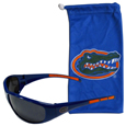 Florida Gators Sunglass and Bag Set - Get our most popular Florida Gators sunglasses with a matching microfiber bag carrying case. The Florida Gators wrap sunglasses are durable and fashionable with the maximum UVA/UBVB protection. The stylish bag is made of microfiber so it can also be used as a cleaning cloth. Thank you for shopping with CrazedOutSports.com