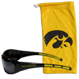 Iowa Hawkeyes Sunglass and Bag Set - Get our most popular Iowa Hawkeyes sunglasses with a matching Iowa Hawkeyes microfiber bag carrying case. The Iowa Hawkeyes wrap sunglasses are durable and fashionable with the maximum UVA/UBVB protection. The Iowa Hawkeyes stylish bag is made of microfiber so it can also be used as a cleaning cloth. Thank you for shopping with CrazedOutSports.com