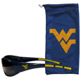 W. Virginia Mountaineers Sunglass and Bag Set - Get our most popular W. Virginia Mountaineers sunglasses with a matching microfiber bag carrying case. The wrap sunglasses are durable and fashionable with the maximum UVA/UBVB protection. The stylish bag is made of microfiber so it can also be used as a cleaning cloth. Thank you for shopping with CrazedOutSports.com