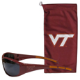Virginia Tech Hokies Sunglass and Bag Set - Get our most popular Virginia Tech Hokies sunglasses with a matching microfiber bag carrying case. The wrap sunglasses are durable and fashionable with the maximum UVA/UBVB protection. The stylish bag is made of microfiber so it can also be used as a cleaning cloth. Thank you for shopping with CrazedOutSports.com