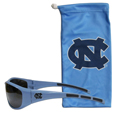 N. Carolina Tar Heels Sunglass and Bag Set - Get our most popular N. Carolina Tar Heels sunglasses with a matching microfiber bag carrying case. The wrap sunglasses are durable and fashionable with the maximum UVA/UBVB protection. The stylish bag is made of microfiber so it can also be used as a cleaning cloth. Thank you for shopping with CrazedOutSports.com