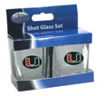 Miami Hurricanes 2 oz Glass Set - This is the perfect gift for any devoted Miami Hurricanes fan! Set of 2 glasses, 2oz capacity, with school logos on each glass. Miami Hurricanes 2 oz Glass Set is perfect for tailgating or game day gatherings! Thank you for shopping with CrazedOutSports.com