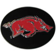 Arkansas Razorbacks Logo Belt Buckle - This officially licensed Arkansas Razorbacks logo belt buckle is fully cast metal with an expertly enameled team color finish. The buckle fits belts up to 2 inches and is the perfect fan accessory. Thank you for shopping with CrazedOutSports.com