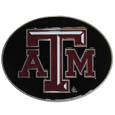 Texas A & M Aggies Logo Belt Buckle - Our officially licensed Texas A & M Aggies logo buckle is fully cast metal with an expertly enameled team color finish. The buckle fits belts up to 2 inches and is the perfect fan accessory. Thank you for shopping with CrazedOutSports.com