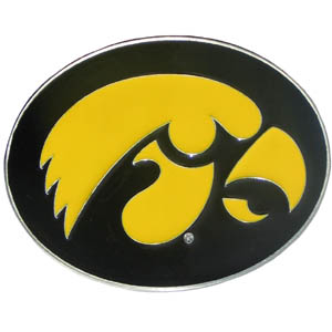College Buckle - Iowa Hawkeyes - This Iowa Hawkeyes College logo buckles feature a prominent Iowa Hawkeyes school logo with a hand enameled finish. Thank you for shopping with CrazedOutSports.com