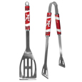 Alabama Crimson Tide 2 pc Steel BBQ Tool Set - This Alabama Crimson Tide stainless steel 2 pc BBQ set is a tailgater's best friend. The colorful and large team graphics let's everyone know you are a fan! The set in includes a spatula and tongs with the Alabama Crimson Tide proudly display on each tool. Thank you for shopping with CrazedOutSports.com