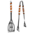 Texas Longhorns 2 pc Steel BBQ Tool Set - This stainless steel 2 pc BBQ set is a tailgater's best friend. The colorful and large team graphics let's everyone know you are a fan! The set in includes a spatula and tongs with the Texas Longhorns proudly display on each tool. Thank you for shopping with CrazedOutSports.com