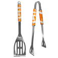 Tennessee Volunteers 2 pc Steel BBQ Tool Set - This stainless steel 2 pc BBQ set is a tailgater's best friend. The colorful and large team graphics let's everyone know you are a fan! The set in includes a spatula and tongs with the Tennessee Volunteers proudly display on each tool. Thank you for shopping with CrazedOutSports.com