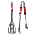 Nebraska Cornhuskers 2 pc Steel BBQ Tool Set - This stainless steel 2 pc BBQ set is a tailgater's best friend. The colorful and large team graphics let's everyone know you are a fan! The set in includes a spatula and tongs with the Nebraska Cornhuskers proudly display on each tool. Thank you for shopping with CrazedOutSports.com