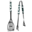 Michigan St. Spartans 2 pc Stainless Steel BBQ Tool Set - This Michigan St. Spartans 2 pc Stainless Steel BBQ Tool Set is a tailgater's best friend. The Michigan St. Spartans 2 pc Stainless Steel BBQ Tool Set lets everyone know you are a fan! The Michigan St. Spartans 2 pc Stainless Steel BBQ Tool Set includes a spatula and tongs with the Michigan St. Spartans proudly display on each tool. Thank you for shopping with CrazedOutSports.com