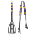 LSU Tigers 2 pc Stainless Steel BBQ Tool Set - This LSU Tigers 2 pc Stainless Steel BBQ Tool Set is a tailgater's best friend. The LSU Tigers 2 pc Stainless Steel BBQ Tool Set has a colorful and large team graphics let's everyone know you are a fan! The LSU Tigers 2 pc Stainless Steel BBQ Tool Set includes a spatula and tongs with the LSU Tigers proudly display on each tool. Thank you for shopping with CrazedOutSports.com