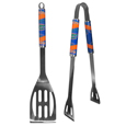 Florida Gators 2 pc Steel BBQ Tool Set - This stainless steel 2 pc BBQ set is a tailgater's best friend. The colorful and large team graphics let's everyone know you are a Florida Gators fan! The set in includes a spatula and tongs with the Florida Gators proudly display on each tool. Thank you for shopping with CrazedOutSports.com