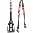 Wisconsin Badgers 2 pc Steel BBQ Tool Set - This stainless steel 2 pc BBQ set is a tailgater's best friend. The colorful and large team graphics let's everyone know you are a fan! The set in includes a spatula and tongs with the Wisconsin Badgers proudly display on each tool. Thank you for shopping with CrazedOutSports.com