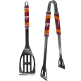 Virginia Tech Hokies 2 pc Steel BBQ Tool Set - This stainless steel 2 pc BBQ set is a tailgater's best friend. The colorful and large team graphics let's everyone know you are a fan! The set in includes a spatula and tongs with the Virginia Tech Hokies proudly display on each tool.