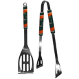 Miami Hurricanes 2 pc Steel BBQ Tool Set