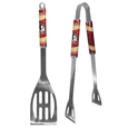 Florida St. Seminoles 2 pc Steel BBQ Tool Set - This stainless steel 2 pc BBQ set is a tailgater's best friend. The colorful and large Florida State Seminoles team graphics let's everyone know you are a Florida State Seminoles fan! The set in includes a spatula and tongs with the Florida St. Seminoles proudly display on each tool. Thank you for shopping with CrazedOutSports.com