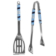 N. Carolina Tar Heels 2 pc Steel BBQ Tool Set - This stainless steel 2 pc BBQ set is a tailgater's best friend. The colorful and large team graphics let's everyone know you are a fan! The set in includes a spatula and tongs with the N. Carolina Tar Heels proudly display on each tool. Thank you for shopping with CrazedOutSports.com