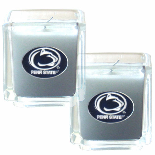 "College Candle Set (2) - Penn St. Nittany Lions - College Candle Set includes two 2"" x 2"" vanilla scented candles featuring a metal square with a hand enameled college emblem. Check out our extensive line of  collegiate merchandise! Thank you for shopping with CrazedOutSports.com"