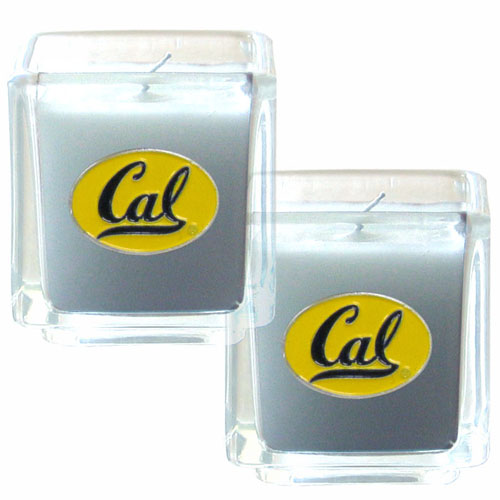"College Candle Set (2) - Cal Berkeley Bears - College Candle Set includes two 2"" x 2"" vanilla scented candles featuring a metal square with a hand enameled Cal Berkeley Bears college emblem. Check out our extensive line of  collegiate merchandise! Thank you for shopping with CrazedOutSports.com"