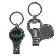 South Florida Bulls Nail Care/Bottle Opener Key Chain - This unique South Florida Bulls key chain has 3 great functions! The key chain opens to become a nail clipper, when open you can access the nail file pad and the key chain has a bottle opener.