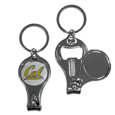 Cal Berkeley Bears Nail Care/Bottle Opener Key Chain - This uniqueCal Berkeley Bears Nail Care/Bottle Opener Key Chain has 3 great functions! The key chain opens to become a nail clipper, when open you can access the nail file pad and the Cal Berkeley Bears Nail Care/Bottle Opener Key Chain key chain has a bottle opener. Thank you for shopping with CrazedOutSports.com