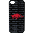 Arkansas Razorbacks iPhone 5C Graphics Snap on Case - This officially licensed collegiate one piece iPhone 5 snap on case features the Arkansas Razorbacks primary logo and silhouetted pattern of the team name.  Protects your iPhone 5C from bumps, scratches and other mishaps while allowing for complete access to the phone's functionality. Thank you for shopping with CrazedOutSports.com