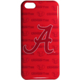 Alabama Crimson Tide iPhone 5C Graphics Snap on Case - This Alabama Crimson Tide officially licensed collegiate one piece iPhone 5 snap on case features the Alabama Crimson Tide primary logo and silhouetted pattern of the team name.  Protects your iPhone 5C from bumps, scratches and other mishaps while allowing for complete access to the phone's functionality. Thank you for shopping with CrazedOutSports.com