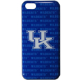 Kentucky Wildcats iPhone 5C Graphics Snap on Case - This officially licensed collegiate one piece iPhone 5 snap on case features the Kentucky Wildcats primary logo and silhouetted pattern of the team name.  Protects your iPhone 5C from bumps, scratches and other mishaps while allowing for complete access to the phone's functionality. Thank you for shopping with CrazedOutSports.com