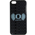 Oregon Ducks iPhone 5C Graphics Snap on Case - This officially licensed collegiate one piece iPhone 5 snap on case features the Oregon Ducks primary logo and silhouetted pattern of the team name.  Protects your iPhone 5C from bumps, scratches and other mishaps while allowing for complete access to the phone's functionality. Thank you for shopping with CrazedOutSports.com