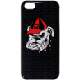 Georgia Bulldogs iPhone 5C Graphics Snap on Case - This officially licensed collegiate Georgia Bulldogs one piece iPhone 5 snap on case features the Georgia Bulldogs primary logo and silhouetted pattern of the team name.  Protects your iPhone 5C from bumps, scratches and other mishaps while allowing for complete access to the phone's functionality. Thank you for shopping with CrazedOutSports.com