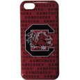 S. Carolina Gamecocks iPhone 5C Graphics Snap on Case - This officially licensed collegiate one piece iPhone 5 snap on case features the S. Carolina Gamecocks primary logo and silhouetted pattern of the team name.  Protects your iPhone 5C from bumps, scratches and other mishaps while allowing for complete access to the phone's functionality. Thank you for shopping with CrazedOutSports.com