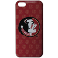 Florida St. Seminoles iPhone 5C Graphics Snap on Case - This officially licensed collegiate one piece iPhone 5 snap on case features the Florida St. Seminoles primary logo and silhouetted pattern of the Florida State Seminoles team name.  Protects your iPhone 5C from bumps, scratches and other mishaps while allowing for complete access to the phone's functionality. Thank you for shopping with CrazedOutSports.com