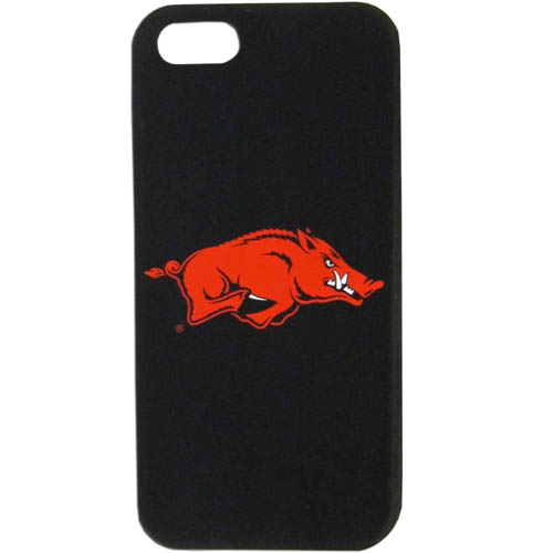Arkansas Razorbacks iPhone 5 Soft Silicone Case - Our officially licensed Arkansas Razorbacks silicone case for the iPhone 5 fit snug to the phone offering protection and added to grip for your phone. Thank you for shopping with CrazedOutSports.com