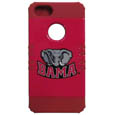 Alabama Crimson Tide iPhone 5 Rocker Case - Our Alabama Crimson Tide collegiate iPhone 5 Rocker case is a 2 piece case with inner silicone skin and outer hard case with silk screened team graphics. Protects your iPhone from bumps, scratches and other mishaps while allowing for complete access to the phone's functionality. Thank you for shopping with CrazedOutSports.com