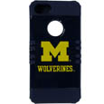 Michigan Wolverines iPhone 5 Rocker Case - This collegiate Michigan Wolverines iPhone 5 Rocker Case is a 2 piece case with inner silicone skin and outer hard case with silk screened team graphics. Michigan Wolverines iPhone 5 Rocker Case protects your iPhone from bumps, scratches and other mishaps while allowing for complete access to the phone's functionality. Thank you for shopping with CrazedOutSports.com
