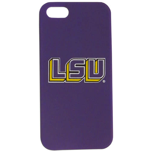 LSU Tigers iPhone 5 Soft Silicone Case - Our officially licensed LSU Tigers iPhone 5 Soft Silicone Case for the iPhone 5 fit snug to the phone offering protection and added to grip for your phone. Thank you for shopping with CrazedOutSports.com