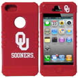 Oklahoma Sooners iPhone 5 Rocker Case - Our collegiate iPhone 5 Rocker case is a 2 piece case with inner silicone skin and outer hard case with silk screened team graphics. Protects your iPhone from bumps, scratches and other mishaps while allowing for complete access to the phone's functionality. Thank you for shopping with CrazedOutSports.com
