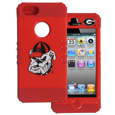 Georgia Bulldogs iPhone 5 Rocker Case - This collegiate Georgia Bulldogs iPhone 5C Rocker case is a 2 piece case with inner silicone skin and outer hard case with silk screened Georgia Bulldogs graphics. Protects your iPhone from bumps, scratches and other mishaps while allowing for complete access to the phone's functionality. Thank you for shopping with CrazedOutSports.com