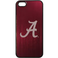 Alabama Crimson Tide iPhone 5/5S Etched Case - This Alabama Crimson Tide ultra cool hard shell snap on case provides great protection for the phone while the soft rubber finish adds to your grip to help prevent dropping the phone. This stylish case is finished off with a brushed metal Alabama Crimson Tide team plate with laser etched team logo. Thank you for shopping with CrazedOutSports.com